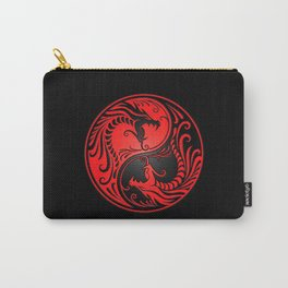 Yin Yang Dragons Red and Black Carry-All Pouch