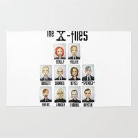 mulder Area & Throw Rugs featuring X FILES by Space Bat designs