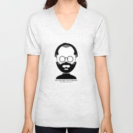Steve Jobs (1955-2011): Stay Hungry, Stay Foolish Unisex V-Neck
