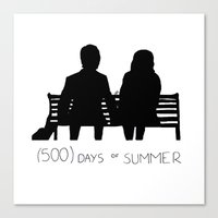 500 days of summer Canvas Prints featuring (500) Days of Summer by ☿ cactei ☿