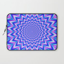 Psychedelic Pulse in Blue and Pink Laptop Sleeve