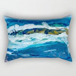 Rock Reef, Maine by George Bellows Rectangular Pillow