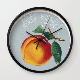 Just Peachy Wall Clock