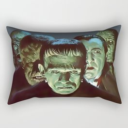 Famous Monsters Gang Rectangular Pillow