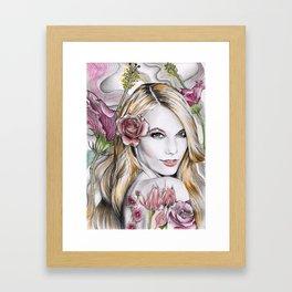Floral Karlie Framed Art Print