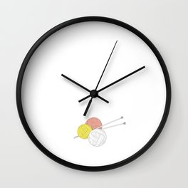Nothing Compares to Simple Pleasure of Knitting Wall Clock