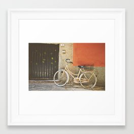 Beige Bicycle - Cinque Terre Framed Art Print
