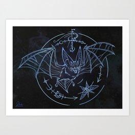 Bat Patronus Glyph Art Print