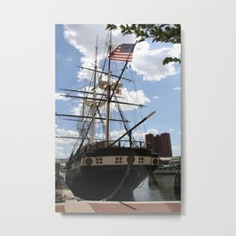 Old Glory - USS Constellation Metal Print