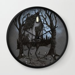 House of Baba Yaga Wall Clock