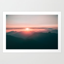 Baker Sunset Art Print