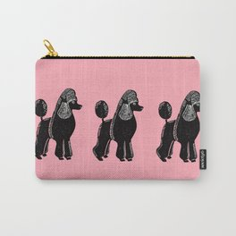Black Standard Poodle Carry-All Pouch