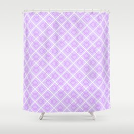 Electric Violet Interlock Pattern Shower Curtain