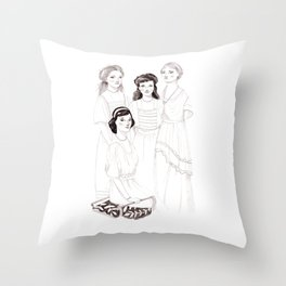 The Grand Duchesses Throw Pillow