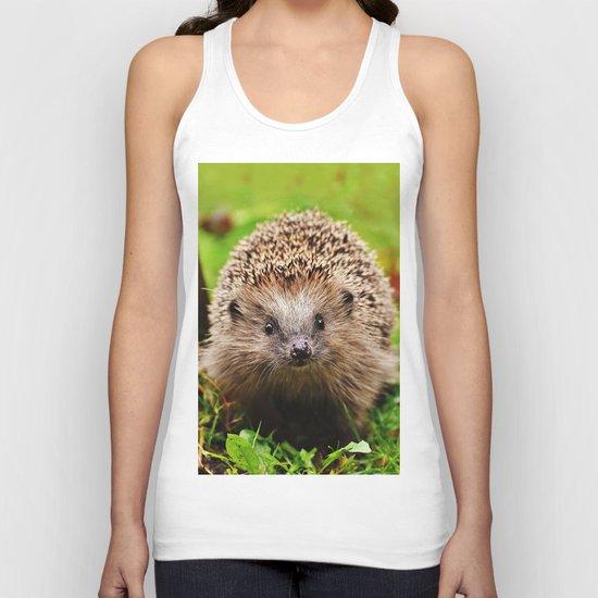 Cute Little Hedgehog Unisex Tank Top