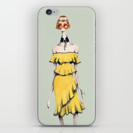 Rebecca in Ruffles iPhone Skin
