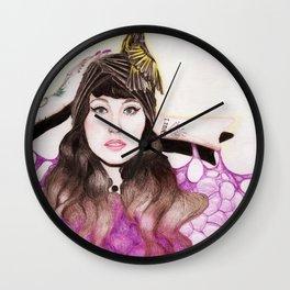 White Cheeked Honeyeater Wall Clock