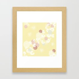 Floral Seamless Pattern on Yellow Framed Art Print