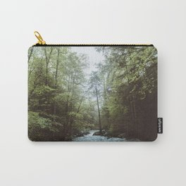 Peaceful Forest, Green Trees and Creek, Relaxing Water Sounds Carry-All Pouch