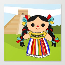 Maria 2 (Mexican Doll) Canvas Print