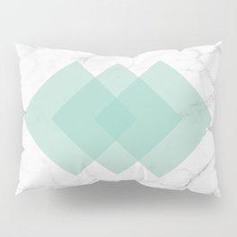 Marble Scandinavian Design Geometric Squares Pillow Sham