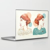 virginia Laptop & iPad Skins featuring Dear Virginia... by flaviasorr