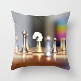 Chessmen Throw Pillow