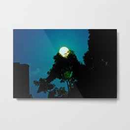 The Moon Fell From The Sky Tonight & A Tree Saved Her Metal Print