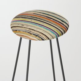 Record Collection Counter Stool