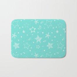Star Doodles Bath Mat