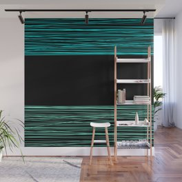 Thread , black and green Wall Mural