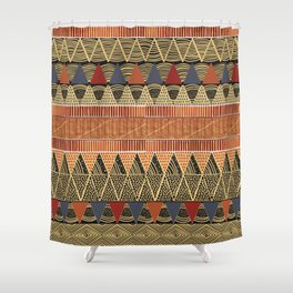African style textile Shower Curtain