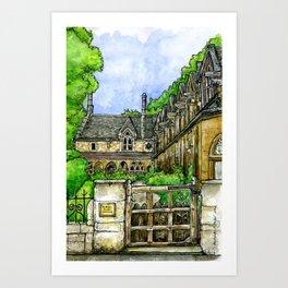 Sir William Powell's Almshouses, SW6 Art Print