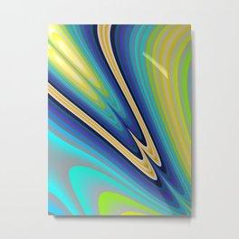 Aurora Borealis Fractal Art Metal Print