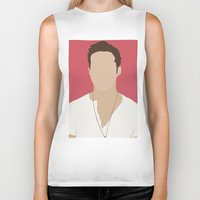 ryan gosling Biker Tanks featuring Ryan Gosling Portrait by RoarsAdams