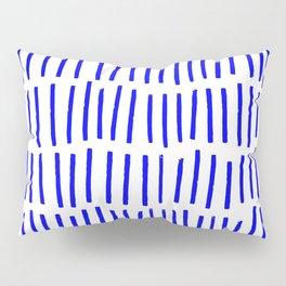 Blue Scandi Paint Print Pillow Sham