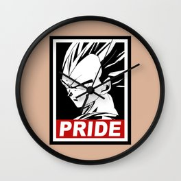 Vegeta pride Wall Clock