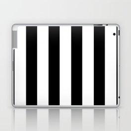 Simply Vertical Stripes in Midnight Black Laptop & iPad Skin