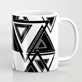 Triangle black and white Coffee Mug
