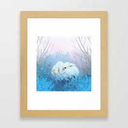 Baby Bun Buns at Dusk Framed Art Print