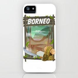 Borneo Jungle poster. iPhone Case