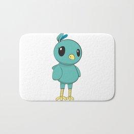 Green Bird Bath Mat