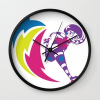 pivot Wall Clocks featuring Rolling Thunder by Kate Santee