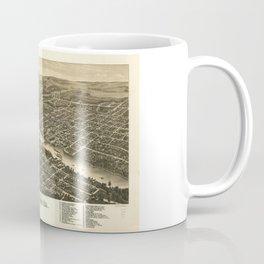 Bird's eye view of the city of Rockford, Illinois (1880) Coffee Mug