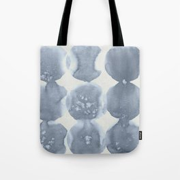 Shibori Wabi Sabi Indigo Blue on Lunar Gray Tote Bag