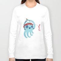 samurai Long Sleeve T-shirts featuring samurai by Maria Jose Da Luz
