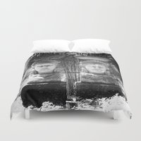 equality Duvet Covers featuring Equality by Sandy Broenimann