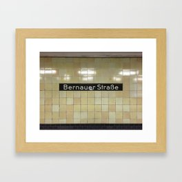 Berlin U-Bahn Memories - Bernauer Straße Framed Art Print