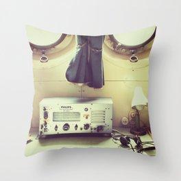 Old Naval Ship Throw Pillow