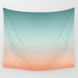 Color gradient background - fading sunset sky colors Wall Tapestry